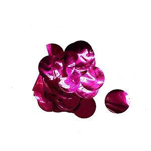 Confete Grande de Papel Metalico Rosa - 1 pct 30gr