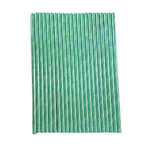 Canudo Papel Furta-cor Azul Mar - Embalagem com 12 unidades