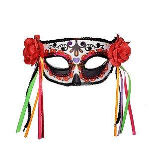 Mascara Plastico Caveira Mexicana - 1 unidade