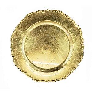 Sousplast Plástico Rendado Gold - 1 Unidade