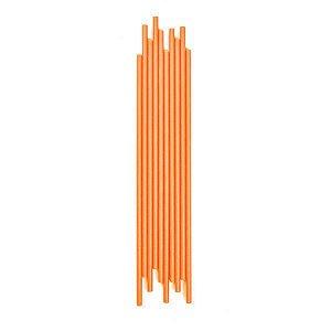 Canudo Papel Liso Laranja - 1 Unidade