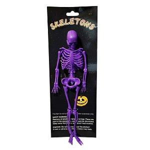 Esqueleto Decorativo Roxo - 1 Unidade