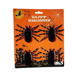 Aranha Decorativa Halloween - 1 Unidade