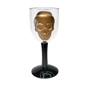 Taça de Plástico Skull Bicolor - 1 Unidade