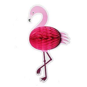 Flamingo Colmeia de Papel  - 1 Unidade