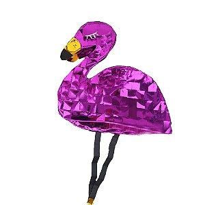Pinhata Flamingo Metálico - 1 Unidade