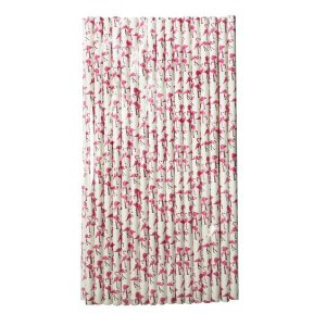 Canudo Flamingo Pretty - Pacote com 20 unidades