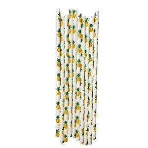 Canudo Abacaxi -  Embalagem com 20 Unidades