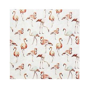 Guardanapo Flamingo Tropical - Pacote com 20 Folhas