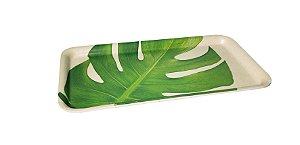 Bandeja de Fibra de Bambu Folhagem Split - 1 Unidade
