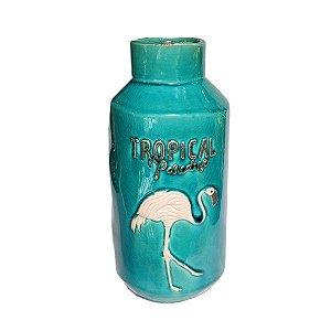 Vaso de Cerâmica Flamingo Fash - 1 Unidade