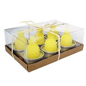 Kit de Velas Abacaxi -  Caixa com 6 peças