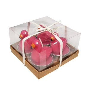 Kit de Velas Flamingo - Caixa com 4 velas
