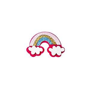 Aplique Arco-íris pink - 10pçs