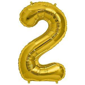 Balão Decorativo Número 2  - 1 Unidade