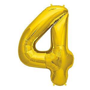 Balão Decorativo Número 4  - 1 Unidade