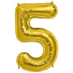 Balão Decorativo Número 5  - 1 Unidade