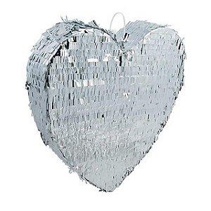 Pinhata Coração Prata - 1 Unidade