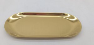 BANDEJA SHOW GOLD/FURTACOR METAL 30X12CM