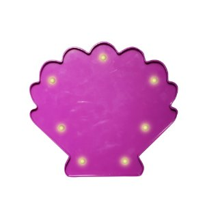 CONCHA LUMINOSA LED LILAS  - 20 x 17 cm