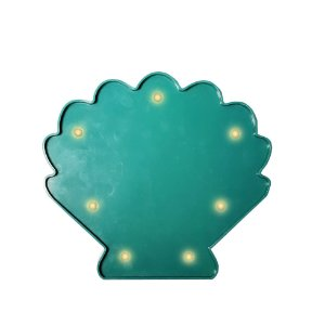CONCHA LUMINOSA LED VERDE -  20 x 17 cm