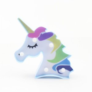 LUMINARIA LED UNICORNIO COLORIDO - 22x12cm