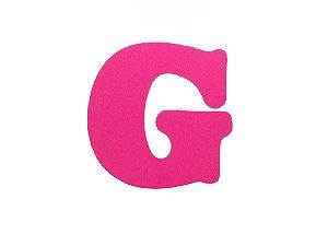 Letra G - Média em E.V.A Várias Cores - 1 Unidade