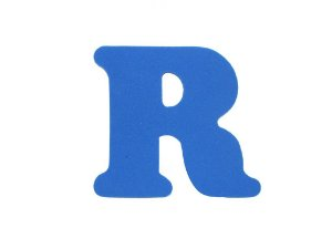 Letra R - Média em E.V.A Várias Cores - 1 Unidade