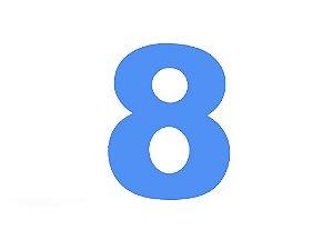 Número 8 - Médio em E.V.A Várias Cores - 1 Unidade