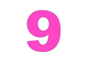 Número 9 - Médio em E.V.A Várias Cores - 1 Unidade