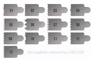 DUPLICADO - Kit de 10 Espátulas Decorativa de Bolo de 20cm em aço Inox!