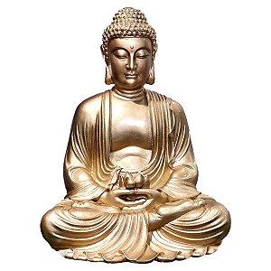 Estátua Buda Dhyana Mudra Gold 55 Cm