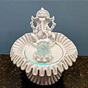 Fonte Decorativa Ganesha Seashel Lótus