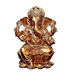 Estátua Ganesha Copper Rose