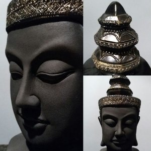 Busto Indiano Preto Com Dourado