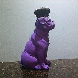 Pug Com Coroa Preta Plus Colors