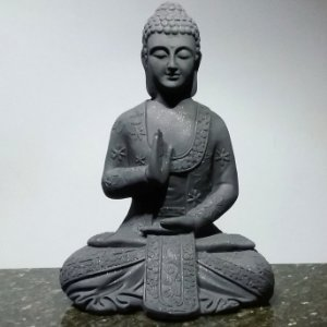 Big Buda Abhaya Mudra Black