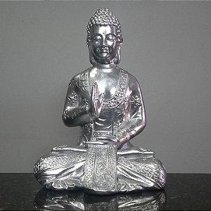 Big Buda Abhaya Mudra Crome