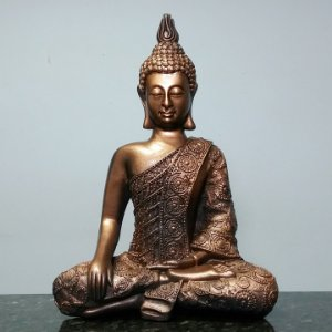 Big Buda Bhumisparsha Mudra Copper