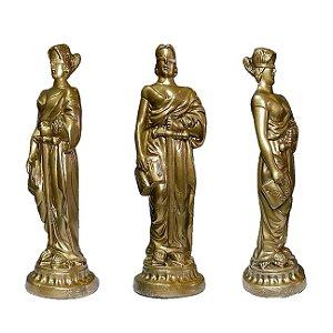 Estátua da Justiça Themis Gold 30 Cm