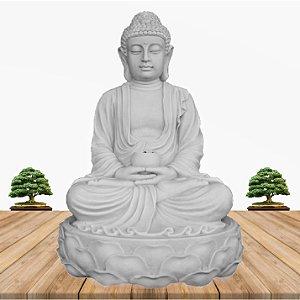 Fonte Buda Zen Lótus Marmorite 90cm 110V