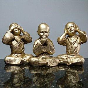 Trio de Monges Sábios Gold