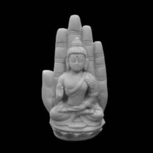 Escultura Buda Abhaya In Hand Marmorite