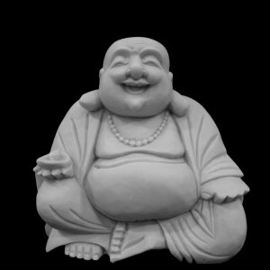 Escultura Buda Hotei Marmorite