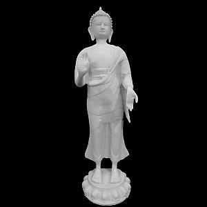 Escultura Buda Peace 53 Cm Marmorite