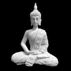 Escultura Buda Dhyana Mudra Marmorite