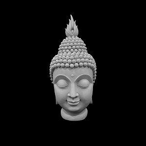 Escultura Cabeça de Buda  Marmorite