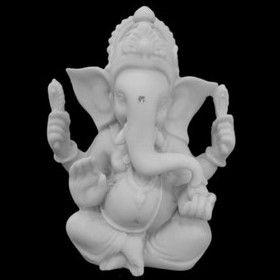 Escultura Little Ganesha Marmorite