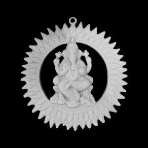 Mandala Ganesha Sun Marmorite