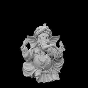 Escultura Ganesha Turban Marmorite